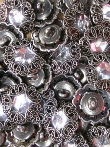 Buttons - Silver with Crystal