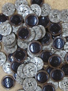 Buttons - Taupe Pattern Plastic