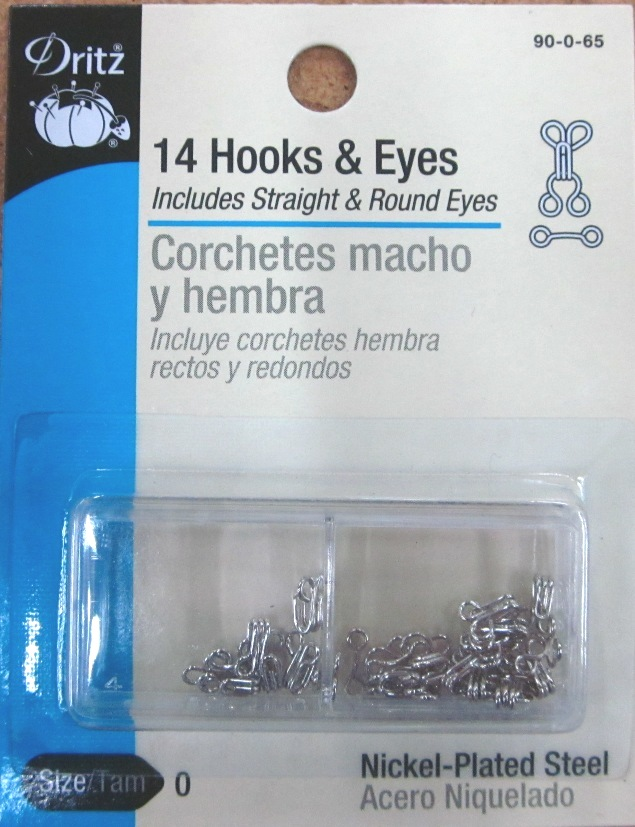 Dritz Hooks and Eyes