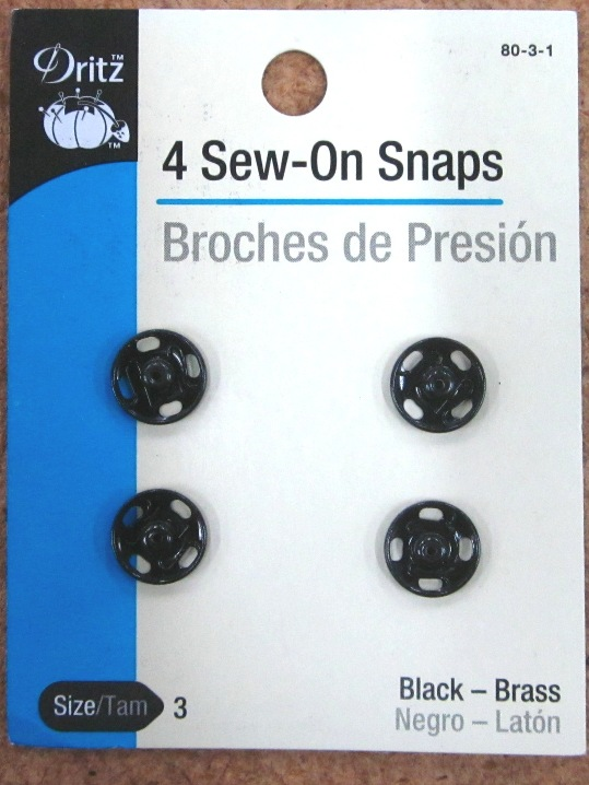 Dritz Sew on Snaps Black