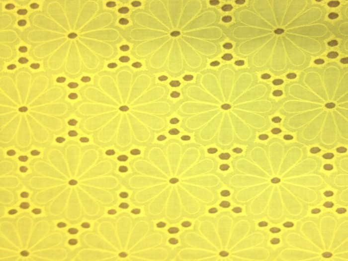 Fabric - Yellow Cotton Flower