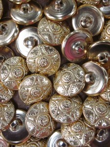 buttons - Gold Pattern Metal