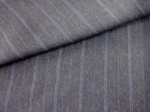 Suiting Fabric - Wool Pin - Wh-Bl